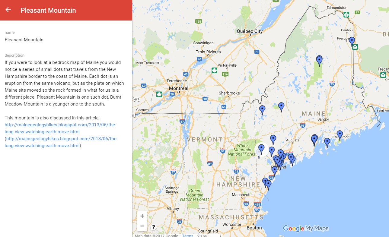 Free Technology For Teachers A Great Example Of Using Google Maps - Google maps maine