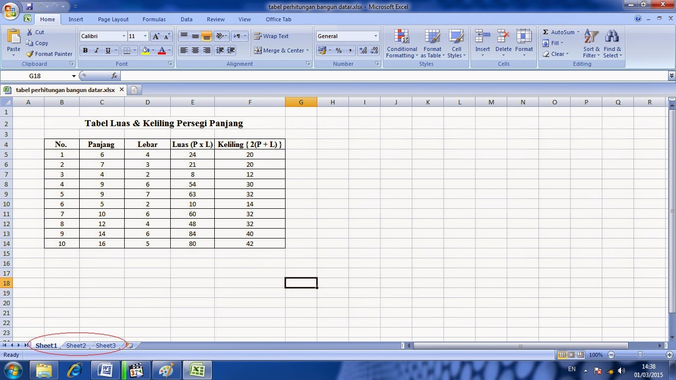 Worksheet In Microsoft Excel