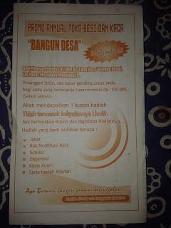 Contoh Format Brosur Promo Berhadiah Toko Besi dan Kaca