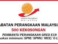 Jawatan Kosong di Jabatan Perangkaan Malaysia - 500 Kekosongan