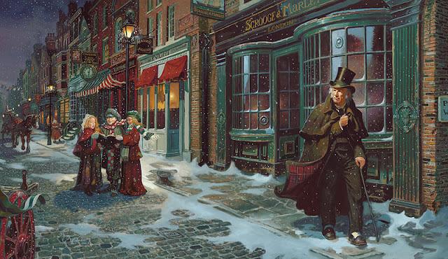 Η Χριστουγεννιάτικη Ιστορία του Ντίκενς σε πίνακα του Dean Morrissey / A Christmas Carol by Dean Morrissey
