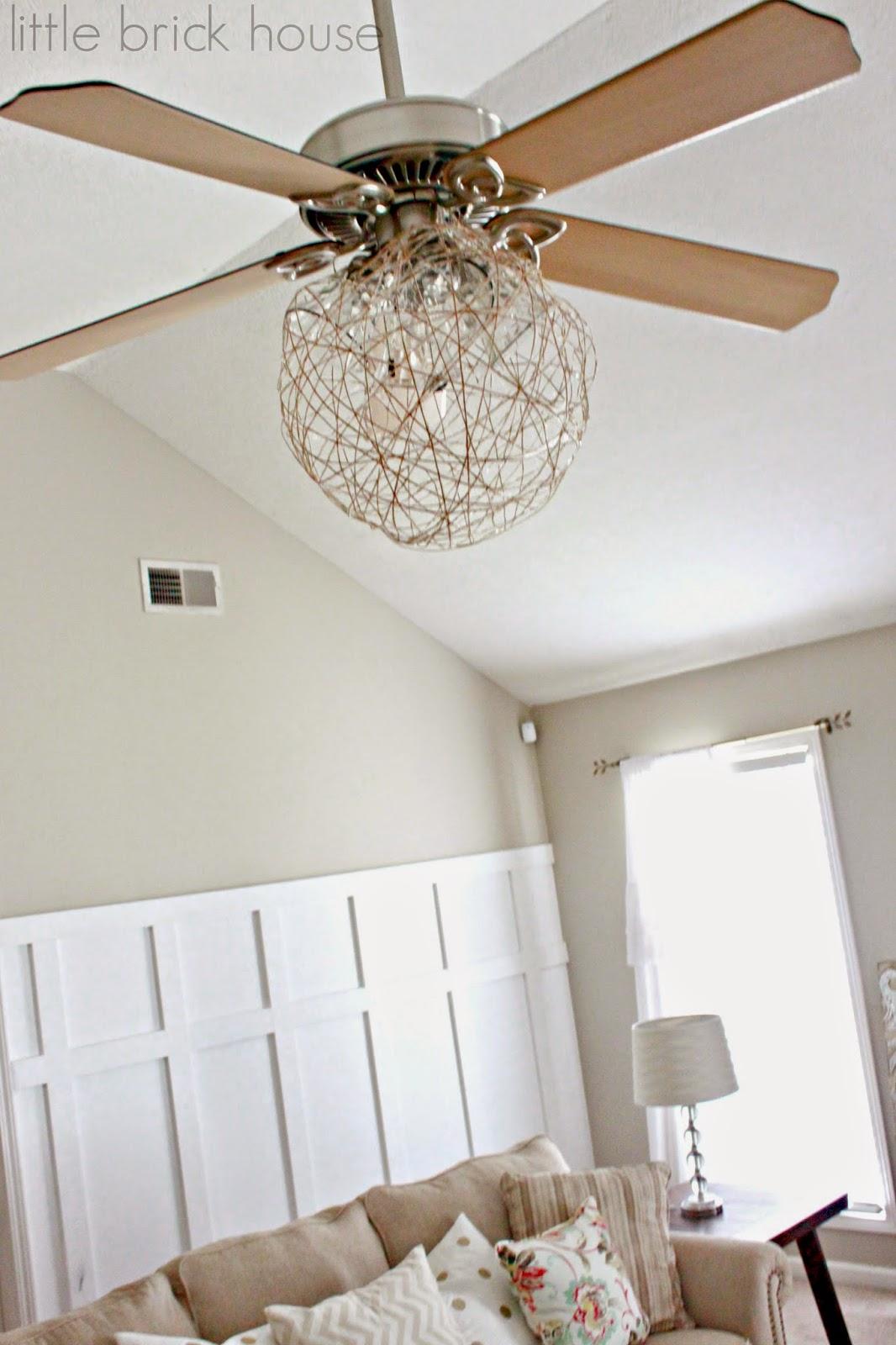 Little Brick House Ceiling Fan Makeover