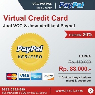 vcc paypal verified