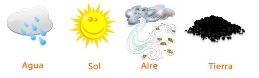 las plantas necesitan agua, sol, aire y tierra