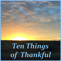 ten things of thankful, parenting blog