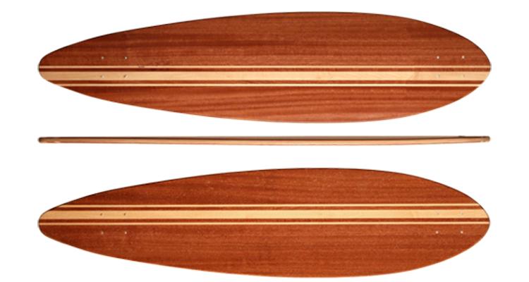 Peças do Skate - Tipos de Shape para LongBoard Pintail
