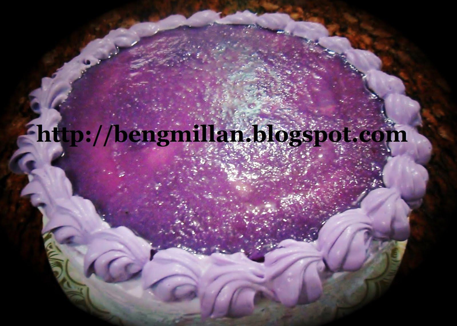 Ube Cake Using Ube Jam