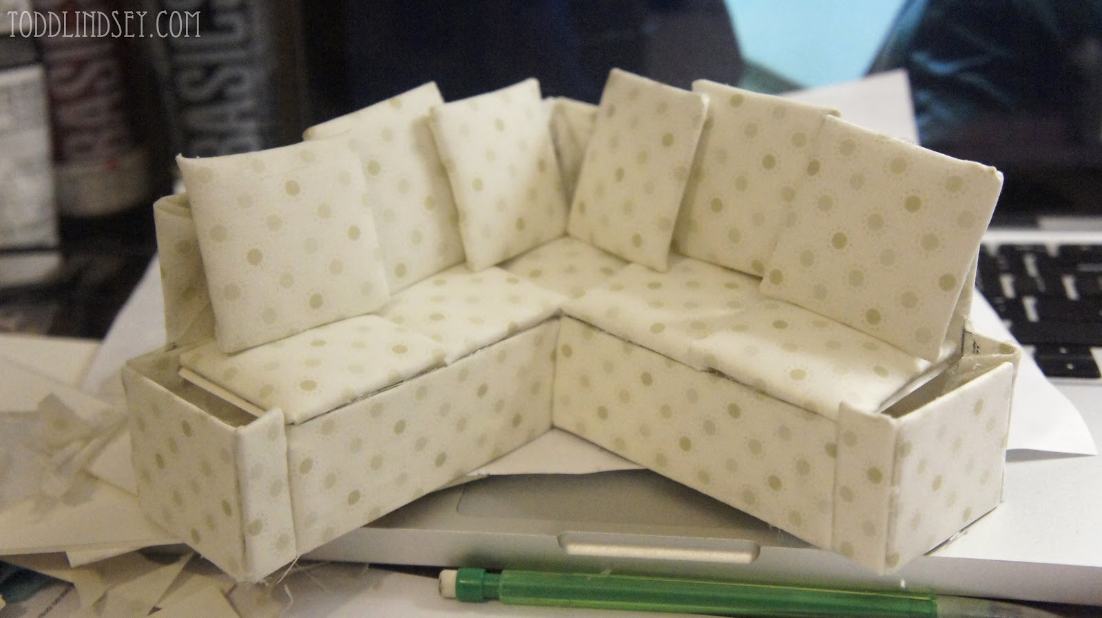 Dollhouse Miniature Sectional Sofa Martha Stewart Collection Saybridge Fabric Custom Colors Domer Home Diy