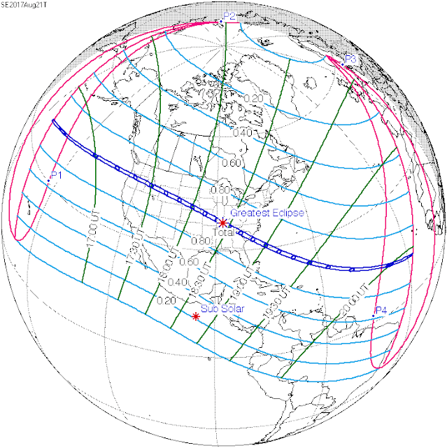 Solar Eclipse 2017 Predictions by Fred Espenak