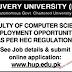 H.U Hajvery University Lahore Jobs