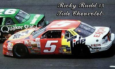 Ricky Rudd #5 Tide Rick Hendrick 1991 1992 1993 Darrell Waltrip