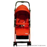 Kereta Bayi BabyDoes CH-818 L Easylite Hadap Depan Belakang - Red