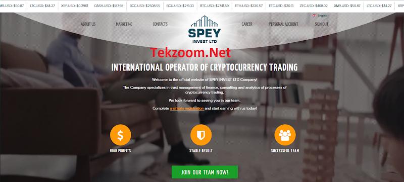 [SCAM] Review Spey LTD - Dự án đầu tư Trade Coin lãi 1.4% hằng ngày - Đầu tư tối thiểu 10$ - Thanh toán Manual