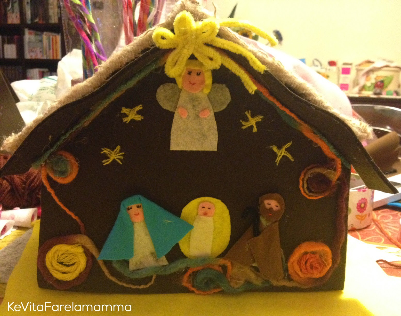 Favoloso Idee regalo fai da te: Angeli e presepe di feltro ~ KeVitaFarelamamma PZ55