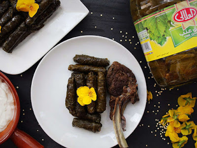 Quinoa Vine Leaves with Lamb Chops