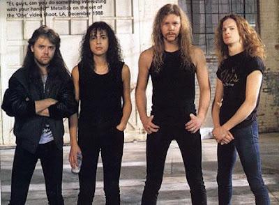 Foto de Metallica en sus inicios