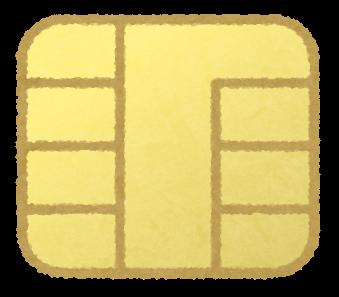 クレジットカードのICチップのイラスト