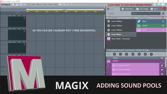 Magix soundpool tutorial screenshot1