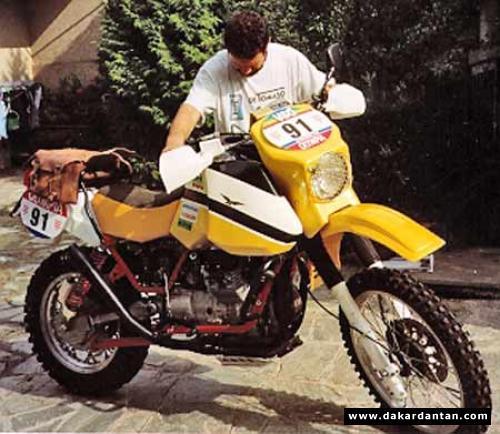 Claudio Torri Moto Guzzi TT Paris Dakar 1985