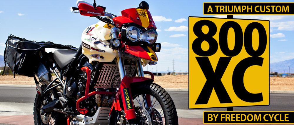 Giant Loop Dealer Freedom Cycles Renos Custom Triumph Tiger 800xc