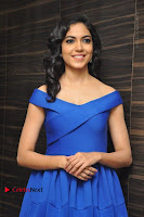 Actress Ritu Varma Pos in Blue Short Dress at Keshava Telugu Movie Audio Launch .COM 0011.jpg