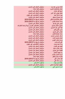 نتائج اعتراضات الثانوي في تربية الكرخ الثانية ليوم الجمعة 9-12-2016