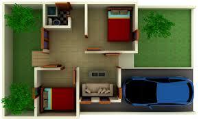 inilah desain 3 dimensi rumah tipe 36 untuk hunian nyaman