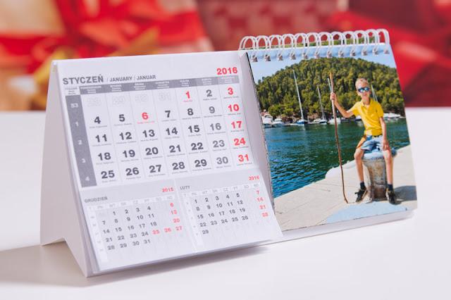 Kalendarz na biurko własne zdjęcia