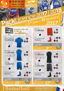 Le pack Licence Eldera pour le basketball - Rentrée 2017/2018