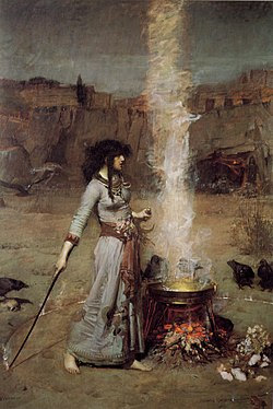 john william waterhouse magic circle
