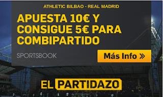 betfair promocion 5 euros Athletic vs Real Madrid 15 septiembre