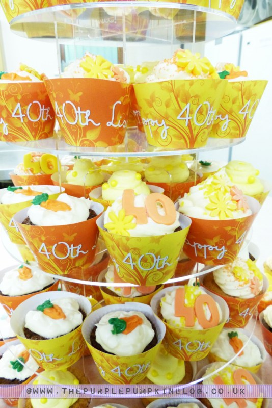[Orange & Yellow 40th Birthday Party] Cupcakes Tower/Tier