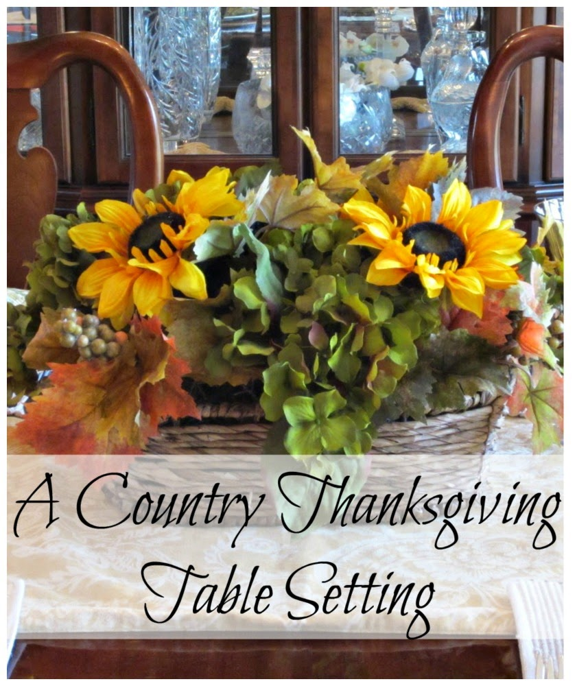 A Country Thanksgiving Table Setting - Ideas to make your table warm and inviting for the holiday.