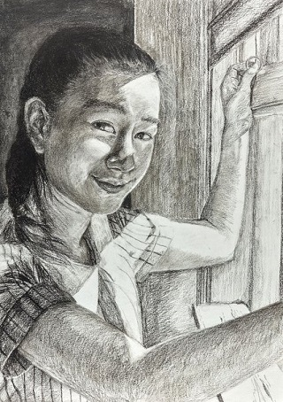 "Honourable Mention Young Archie 2018 - ""Fleeting smile"" by Hellen Wang 