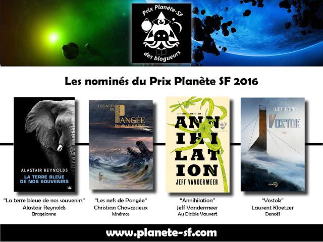 Nominés du Prix Planète SF 2016