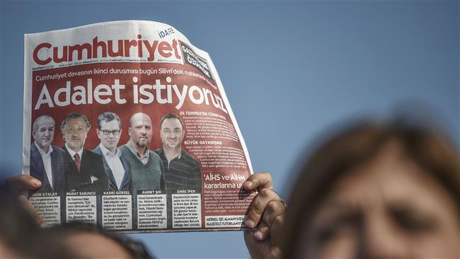 Turkey holds second hearing for staffers of opposition daily newspaper Cumhuriyet