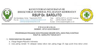 Rekrutmen Besar-besaran - Rumah Sakit Umum Propinsi Dr. Sardjito (Deadline : 21 Maret 2017)