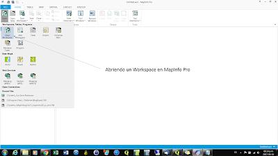 Abriendo workspace en mapinfo
