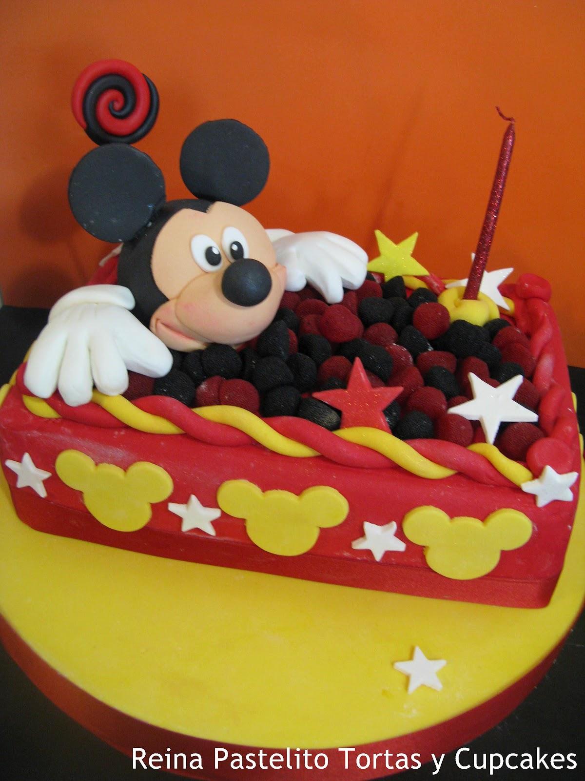 Reina Pastelito Cupcakes Tortas Torta Rectangular Mickey