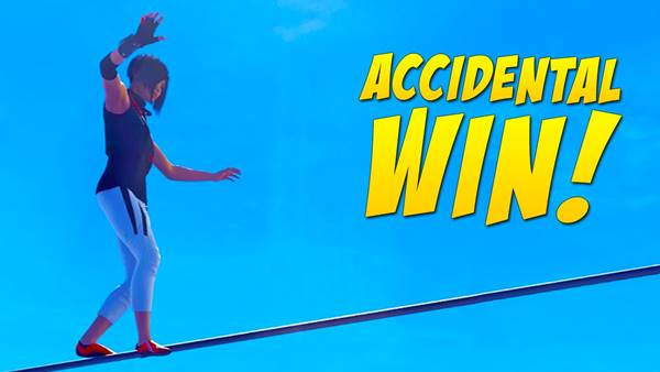 Wins acidentais nos games Accidental Win - Falling Gracefully
