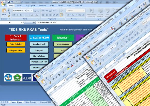 Aplikasi Penyusunan RKS dan RKAS untuk SD MI Format Microsoft Excel