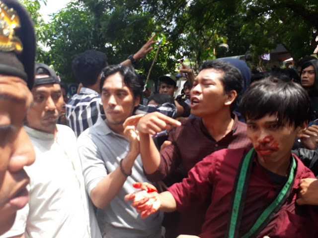 Demo PDAM Wae Manurung Bone, Dua Orang HMI Cabang Bone Terluka