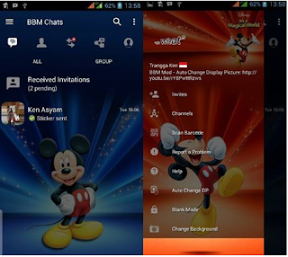BBM MOD Mickey Mouse Apk Terbaru