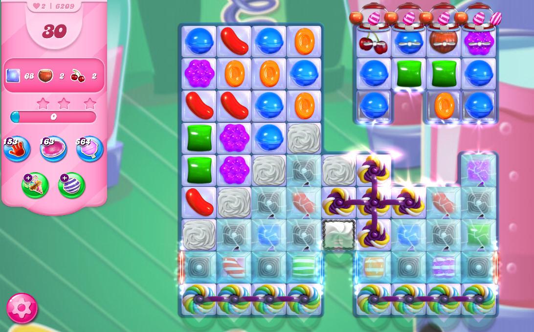 Candy Crush Saga level 6209