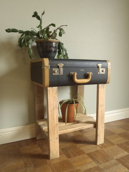 Furniture with recycled objects 9