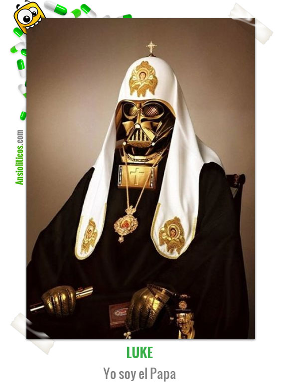 Chiste de Star Wars: Luke, yo soy el Papa