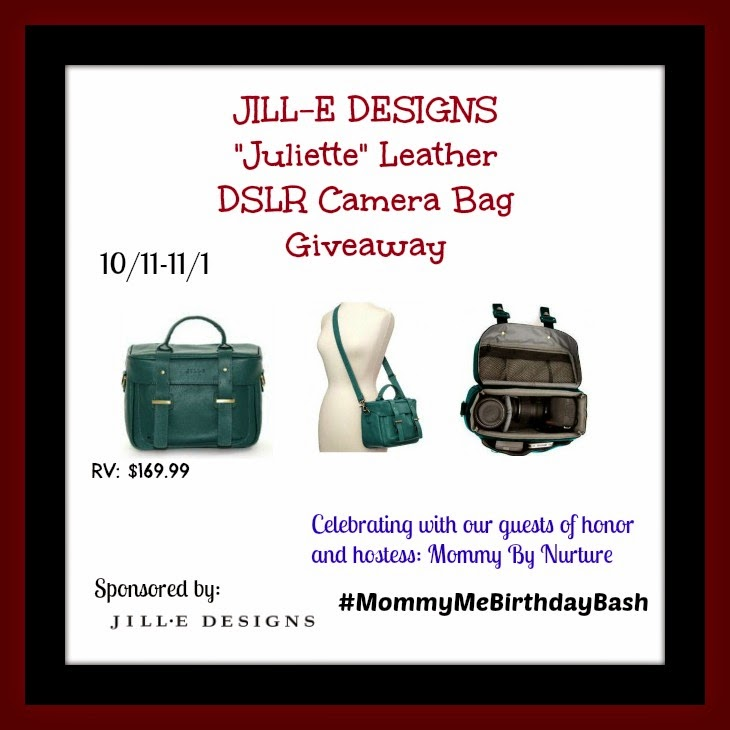 Enter the Jill-E Designs Camera Bag Giveaway. Ends 11/1.