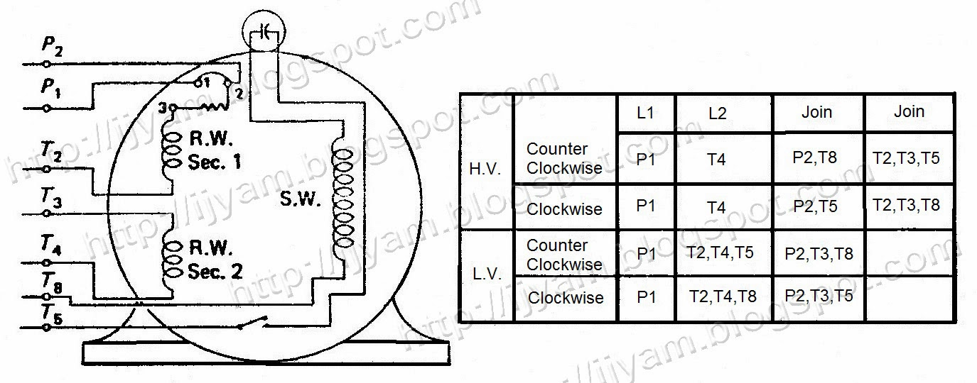 single phase dual voltage motor wiring diagram  | 794 x 600