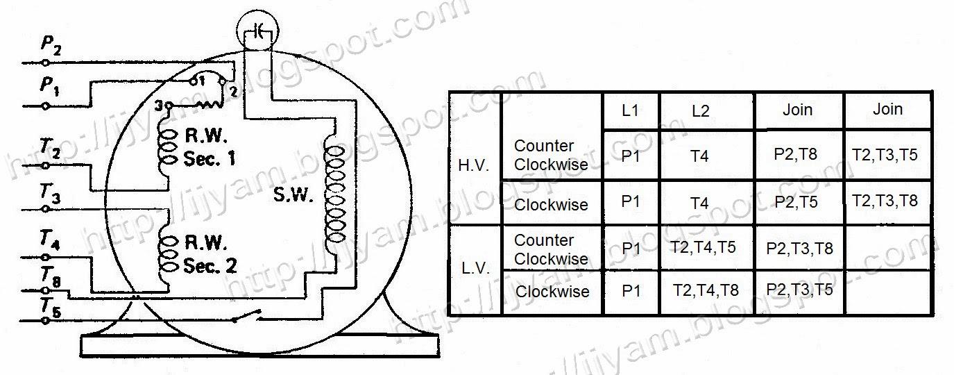 wiring run capacitors and start