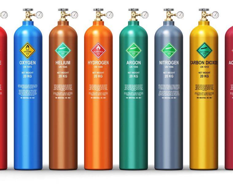 nhập khẩu bình chứa khí và khí công nghiệp